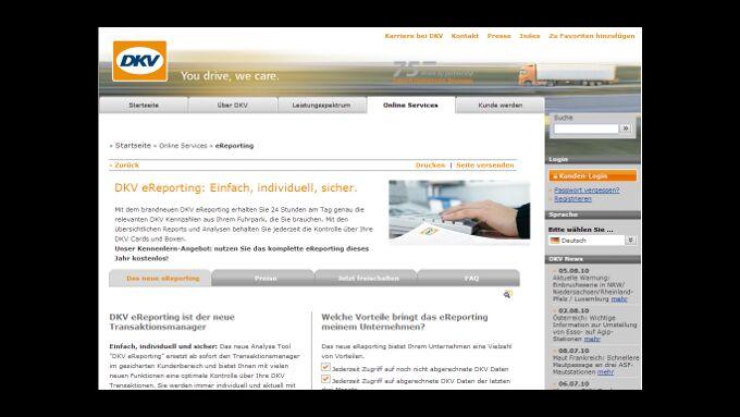 DKV: Reportingtool für mehr Transparenz