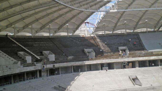 Fußballstadion, Usbekistan, Taschkent, Dach, Militzer Münch
