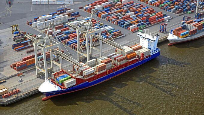 Hamburger Hafen, Container Terminal, Container, Schiff