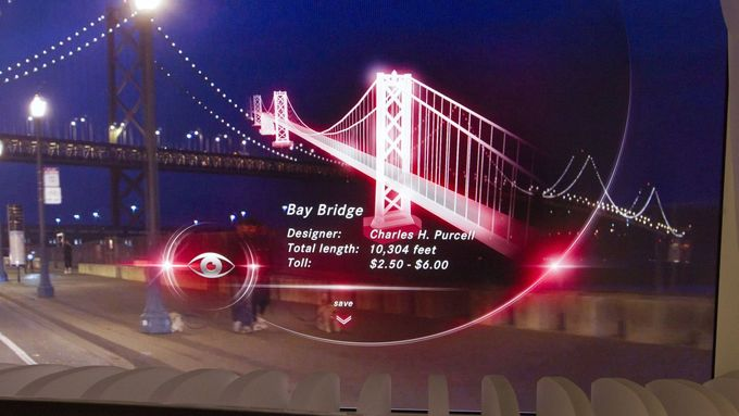 Head-up-Display, Daimler, Golden Gate Bridge