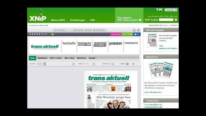 Ihr trans aktuell-Archiv im Internet