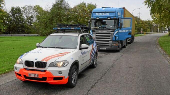Kabotagejäger, Belgien, Polizist, Lkw, Polizei