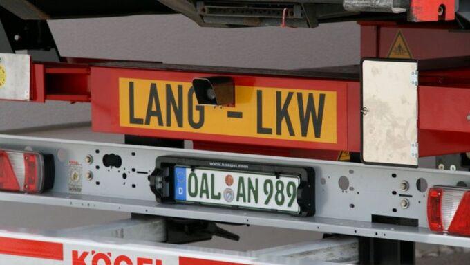 Lang-Lkw, Feldversuch, Schriftzug, Ansorge, 2012