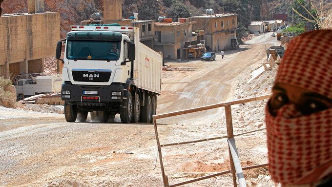 Lkw-Fahren im Libanon, MAN