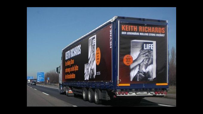 Lkw rollen für Keith Richards-Biographie