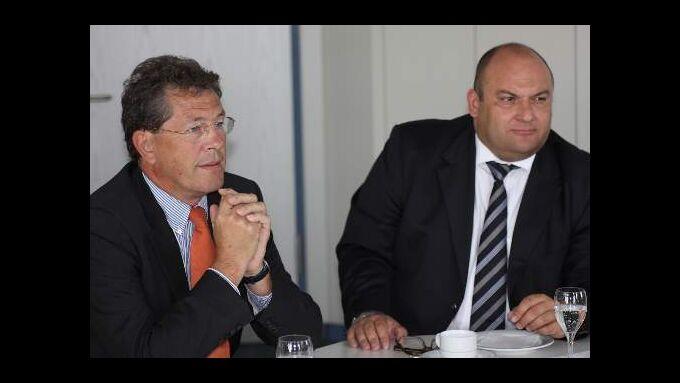 TIP Services Mitteleuropa-Chef Wolfgang Kuchenbuch (rechts) und Ralph Sauer