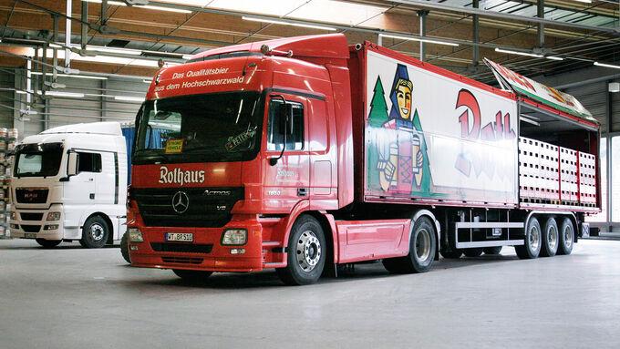 Transport des Bieres, Brauerei Rothaus