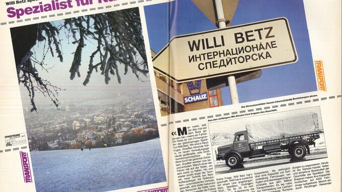 Willi-Betz-Retroperspektive aus FERNFAHRER 5/1987