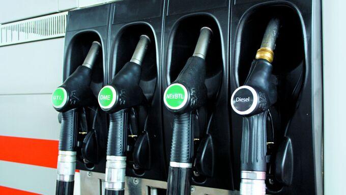 Alternative Kraftstoffe, Zapfsäule
