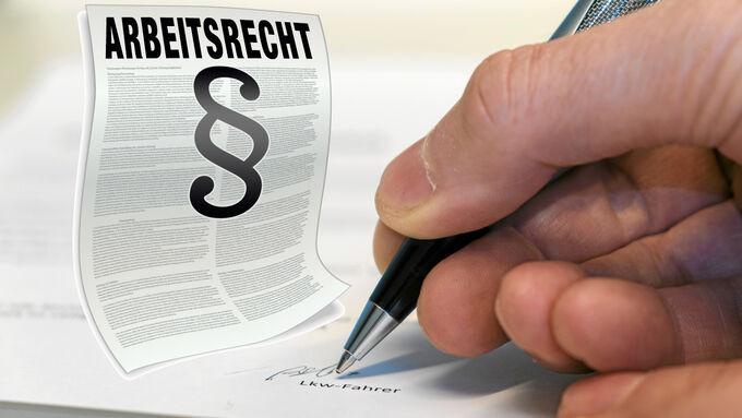 Autobahnkanzlei, Unterschrift, Arbeitsrecht
