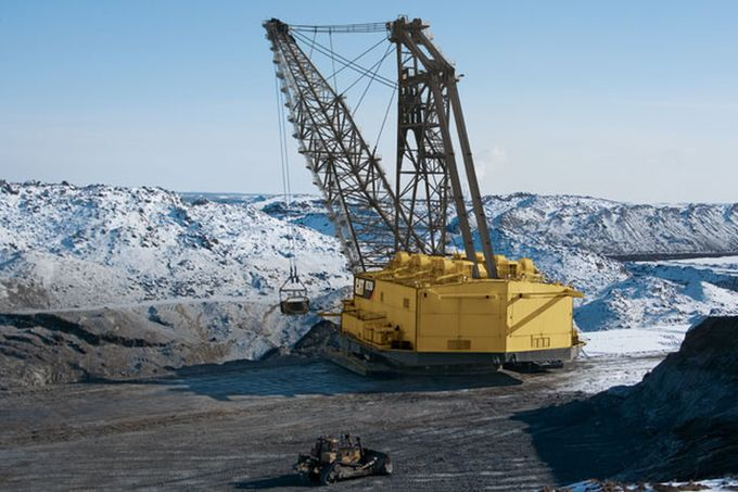 Bergbau, Bergwerk, Kraftwerk, Fahrzeug, Baustelle