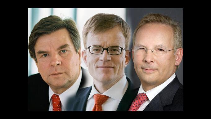 Dr. Norbert Bensel (links), Hermann Ude, Dr. Jörg Mosolf