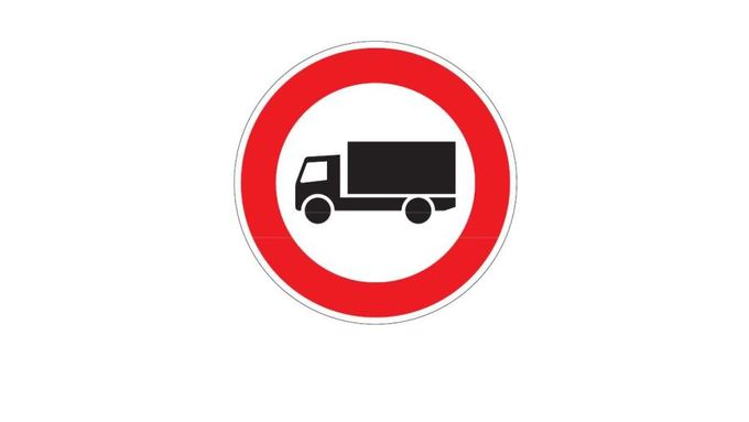 Fahrverbot, Verkehrszeichen