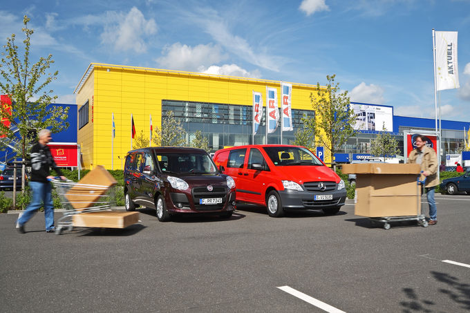 Fiat Doblò Cargo Kombi Maxi und Mercedes Vito Mixto