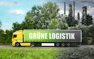 Grüne Logistik, Montage, Lkw, Themenseite Titelbild