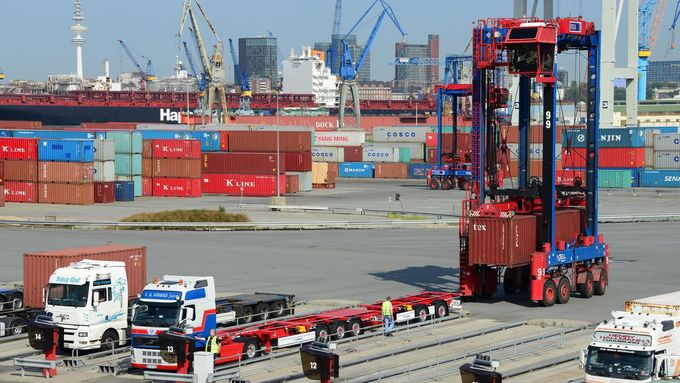Lang-Lkw, Hamburg, Container, Terminal, Spedition Kruse