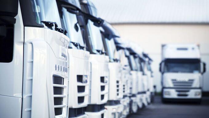 Lkw, Flotte, Lastwagen, Fuhrpark