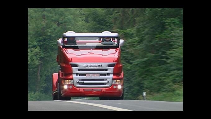 N 24 Transportwelt: Unterwegs im Scania Cabrio