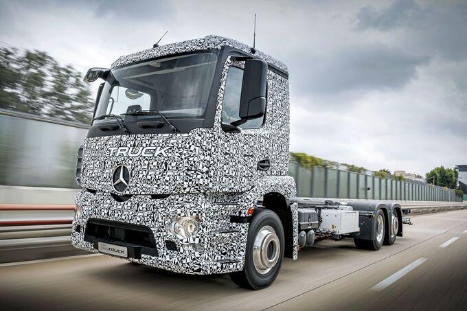 Präsentation Urban eTruck Daimler Elektro-Lkw schwerer Verteiler