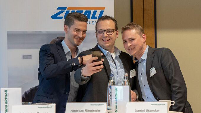 Sebastian Sorger (Loadfox), Andreas Rinnhofer (Spedifort), Daniel Stancke (Truck Jobs), v. links