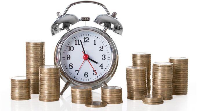 Uhrzeit, Geld, Wecker