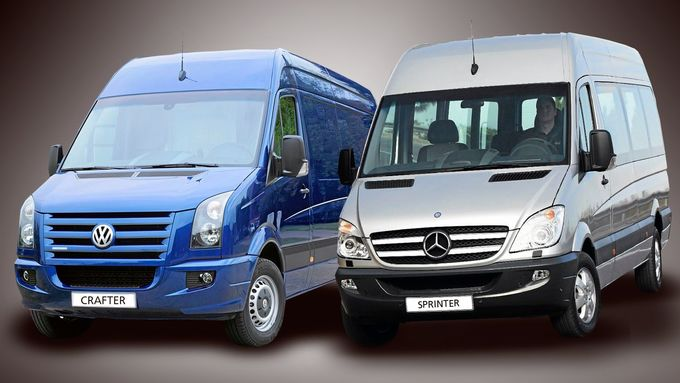 VW Crafter, Mercedes Sprinter, Montage